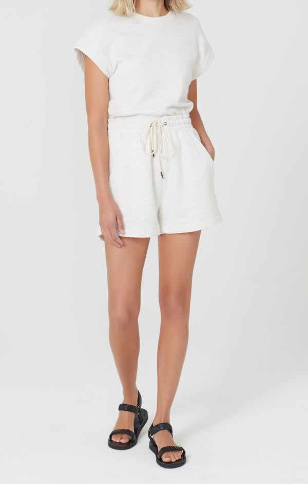 Olympia Fleece Short Oatmeal front