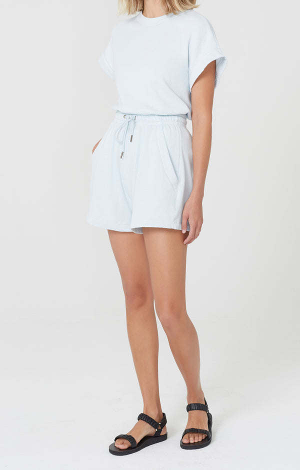 Olympia Fleece Short Sea Glass