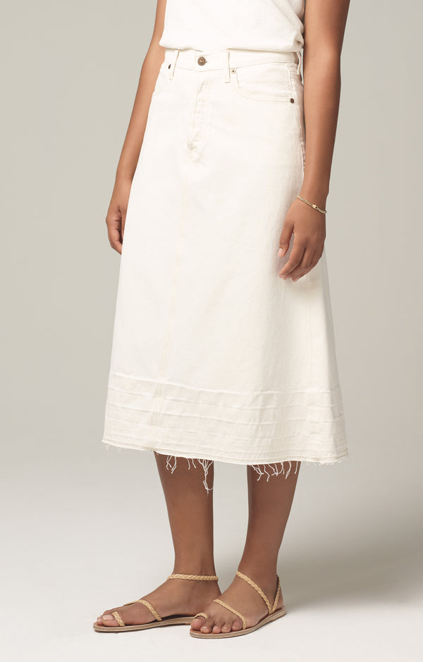 florence skirt white clay front