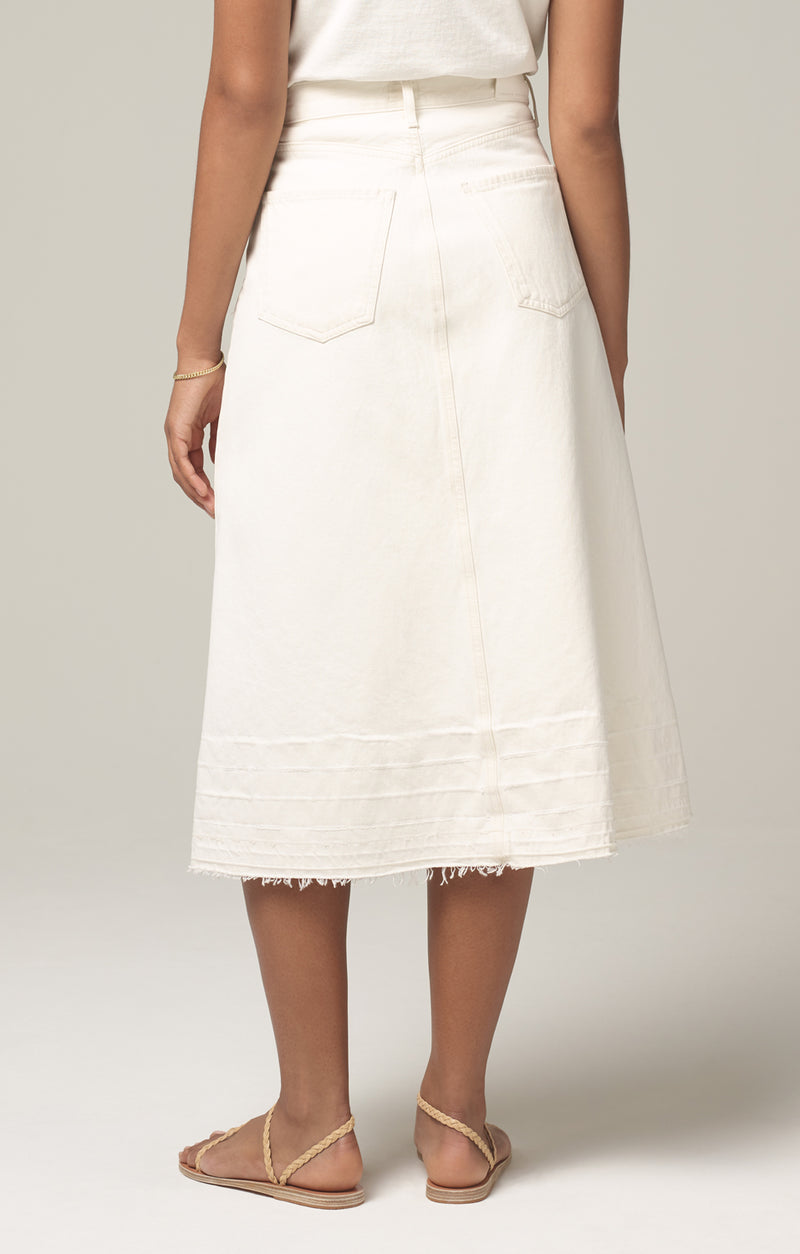florence skirt white clay back
