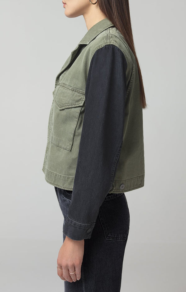 binx denim utility jacket montane side