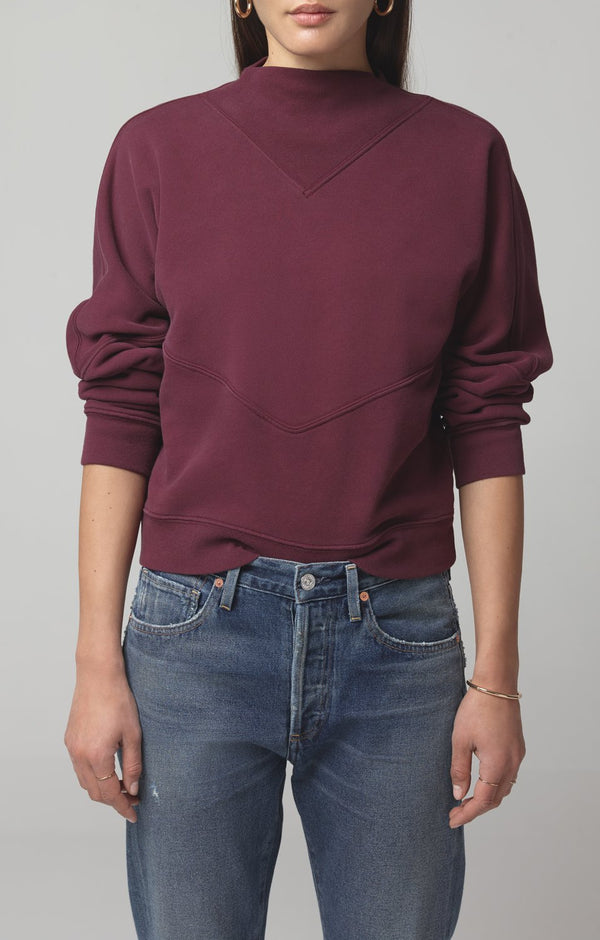 rumor v sweatshirt bordeaux side