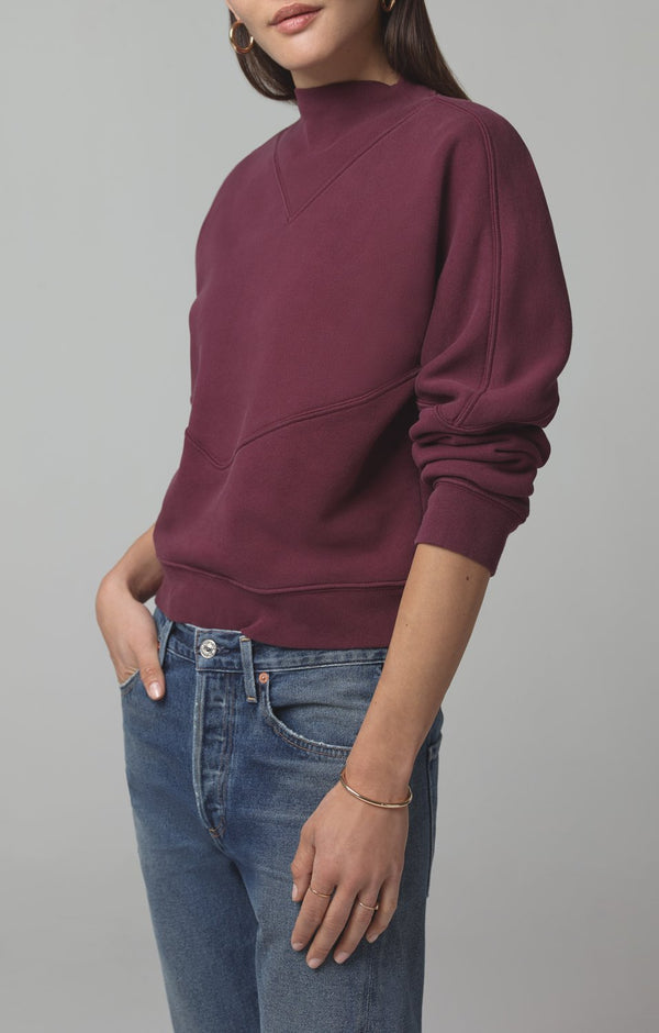 rumor v sweatshirt bordeaux back