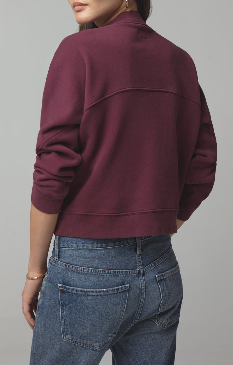 rumor v sweatshirt bordeaux detail