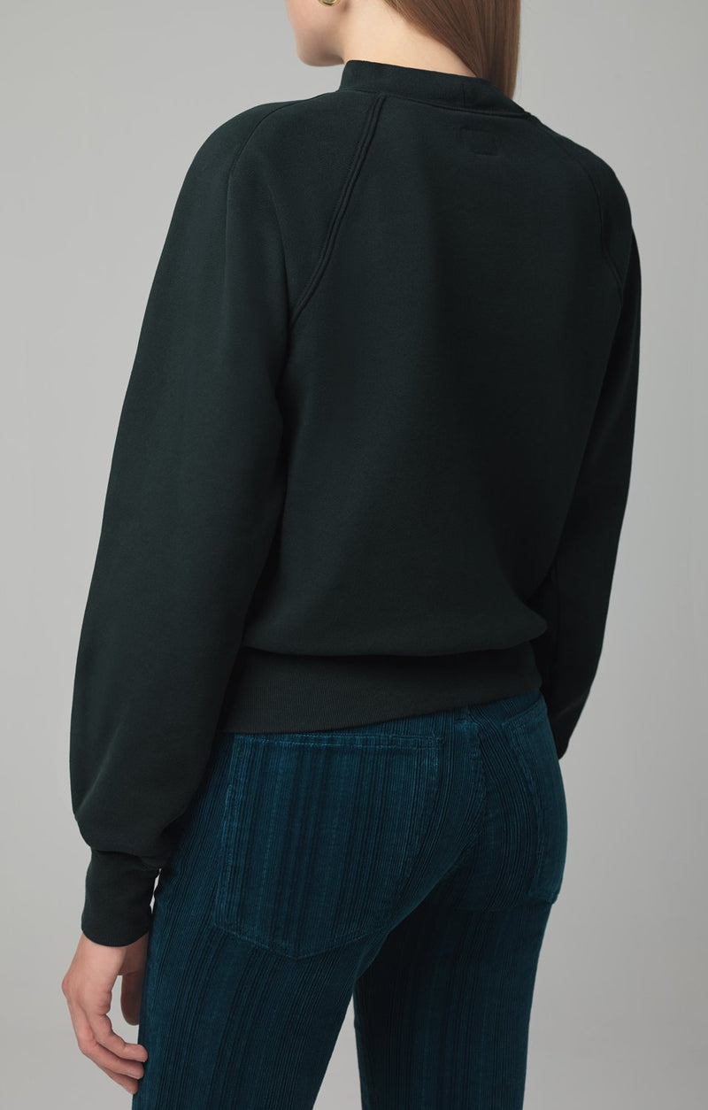 ruth sweatshirt spruce detail