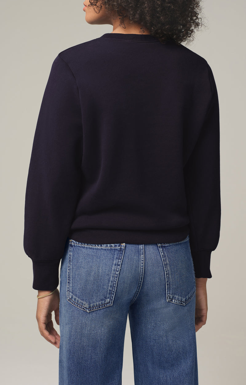 amelie tucked sweatshirt navy back