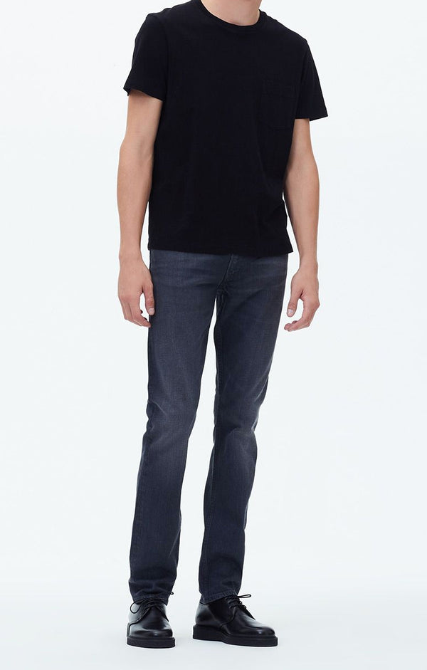 bowery standard slim fit greystone front