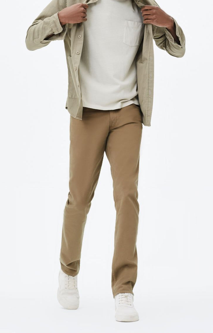 bowery standard slim fit twill wheat front
