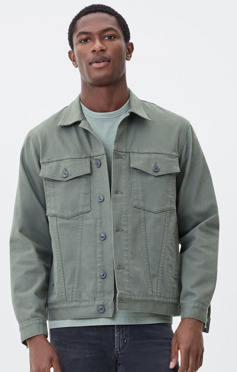 oversized trucker jacket corporal green front