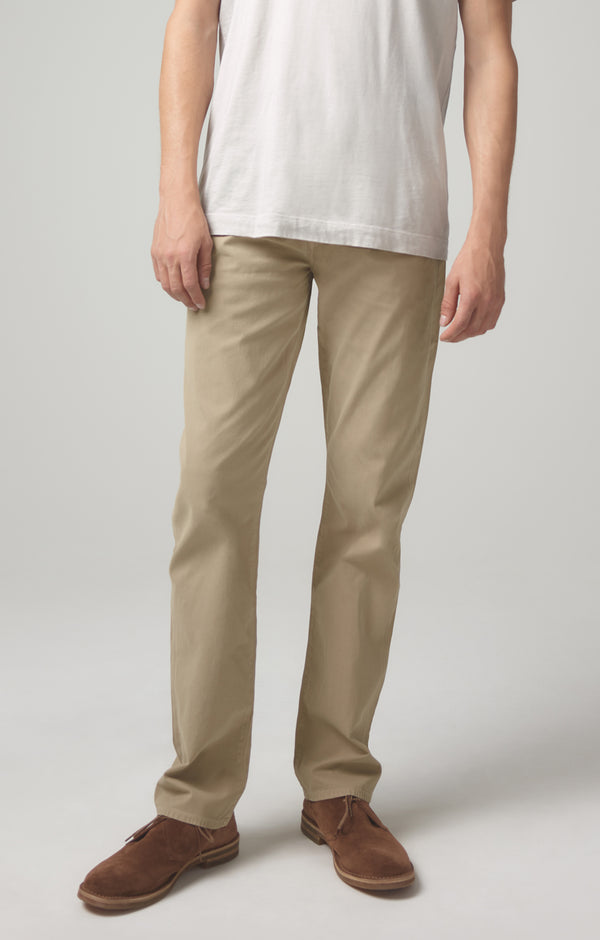 gage classic straight fit twill sand front