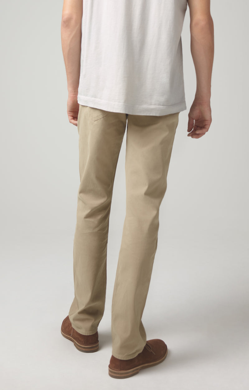 gage classic straight fit twill sand back