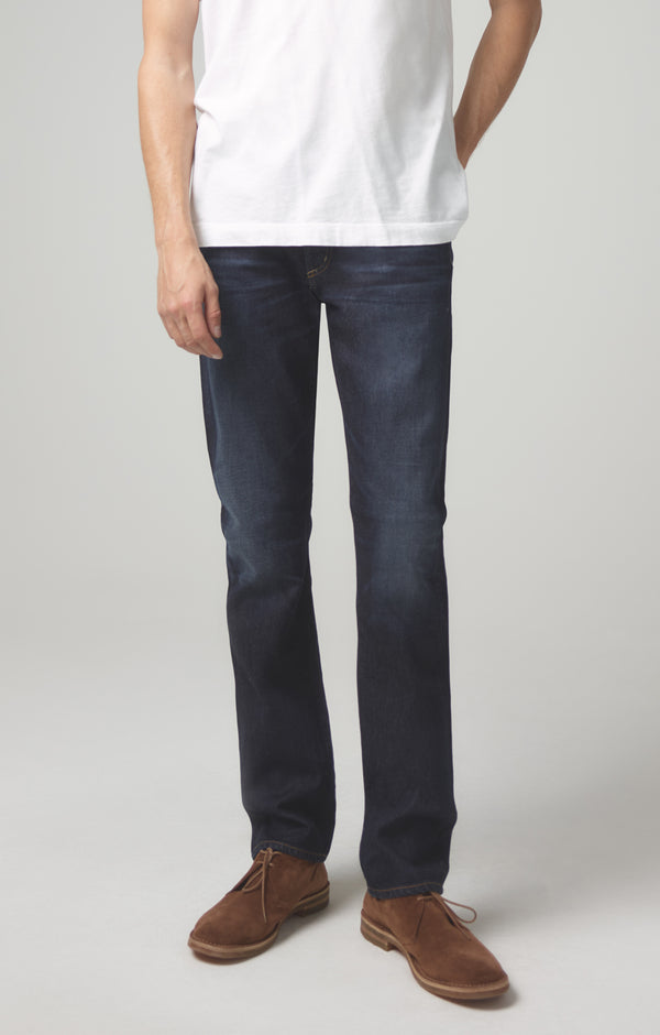 gage classic straight fit denim hayes front