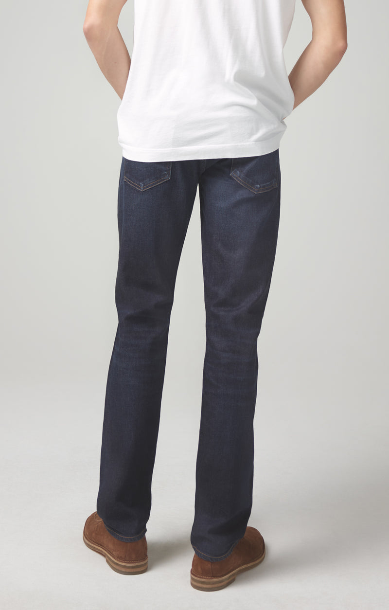 gage classic straight fit denim hayes back