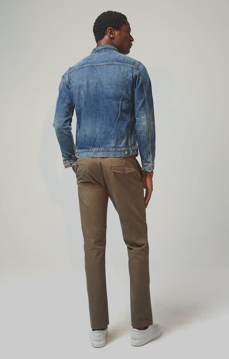 logan chino slim fit bark front