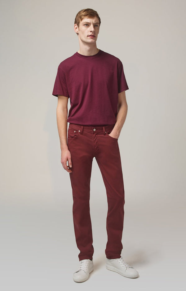 bowery standard slim fit redwood front