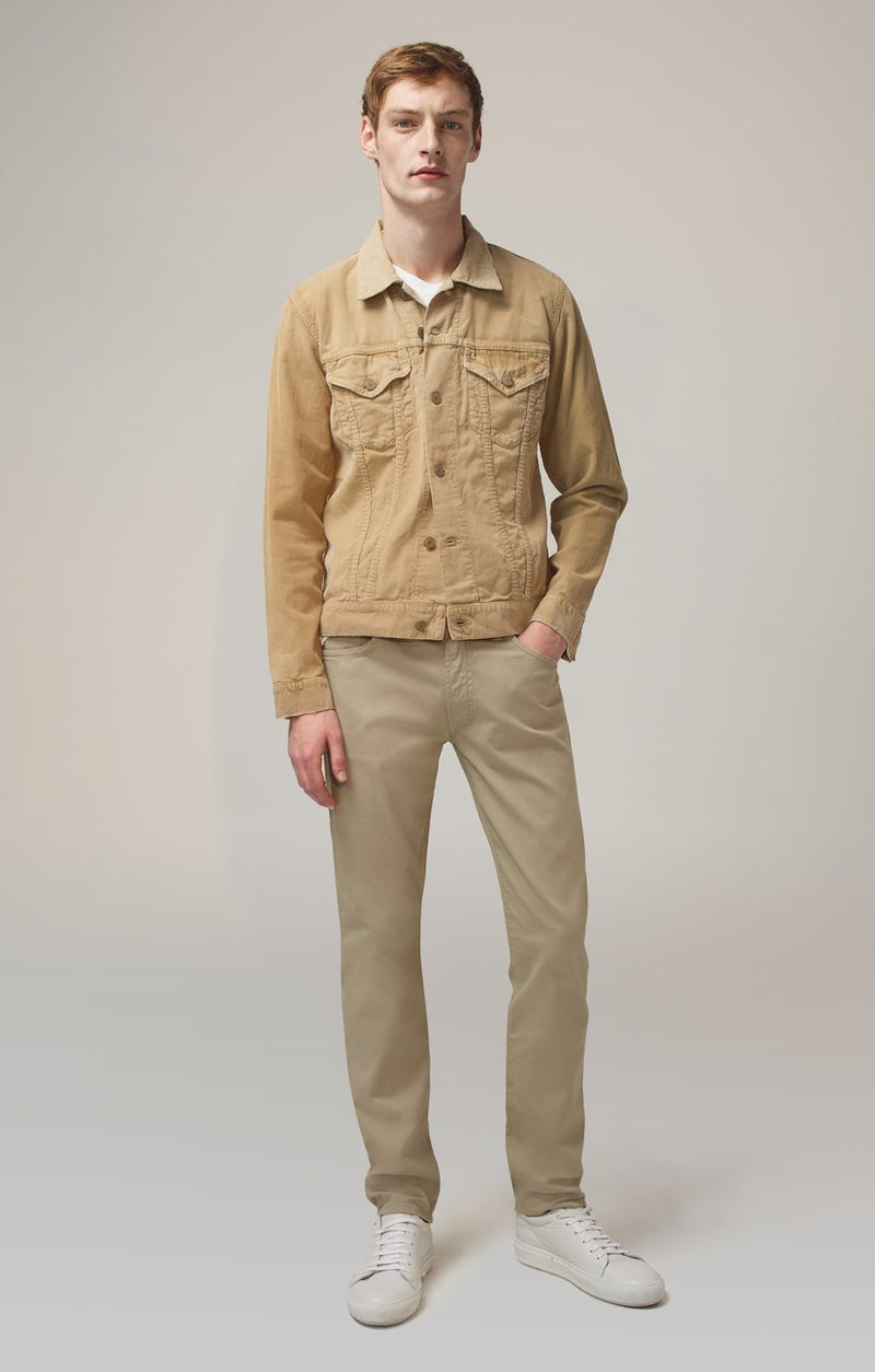 bowery standard slim fit vintage khaki front