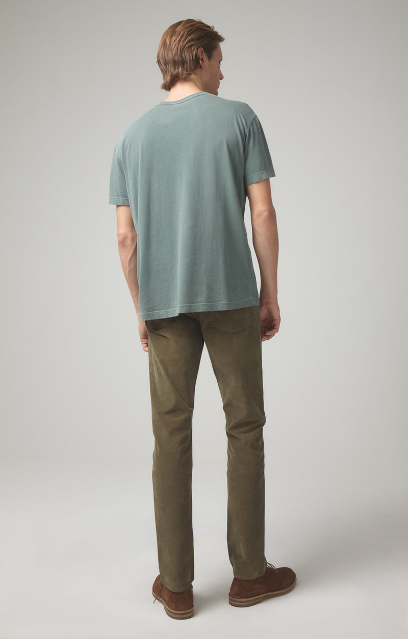 bowery standard slim fit moss back