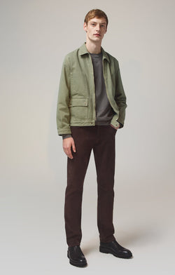 bowery standard slim fit mocha front