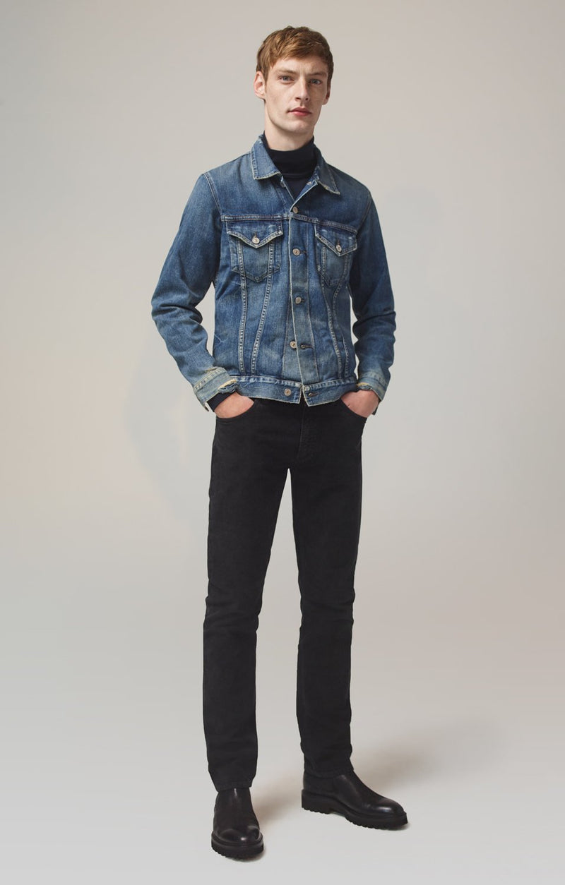 bowery standard slim fit petrol front