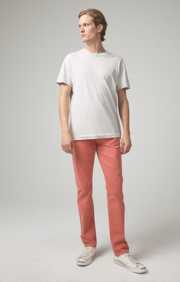 bowery standard slim fit coral front