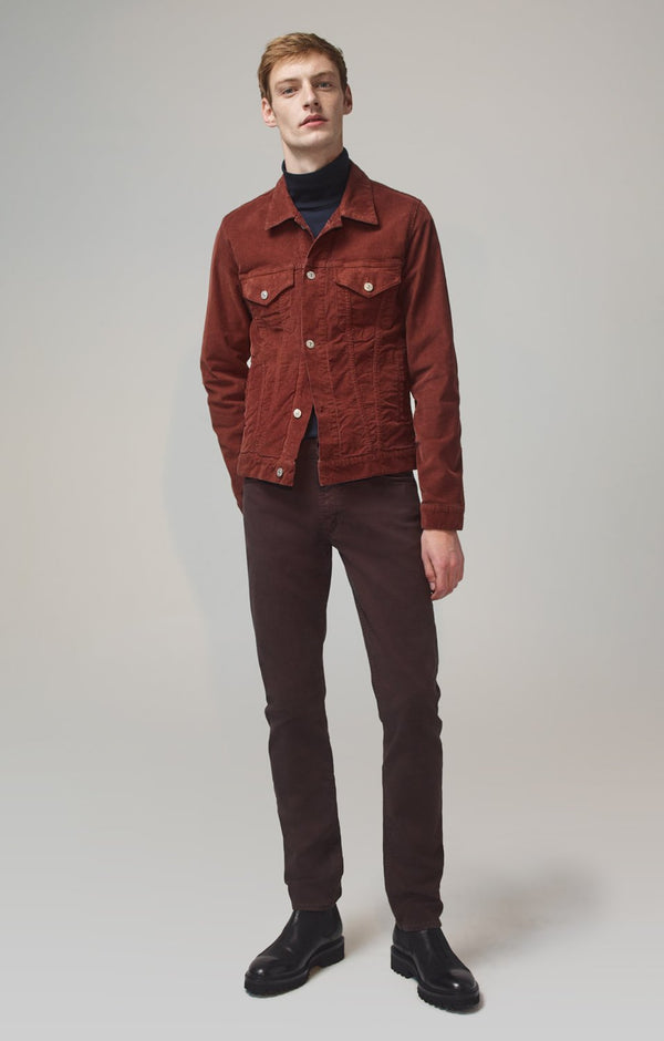 bowery standard slim fit dark chocolate front