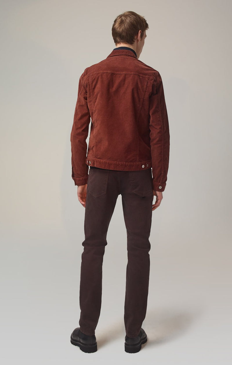 bowery standard slim fit dark chocolate back