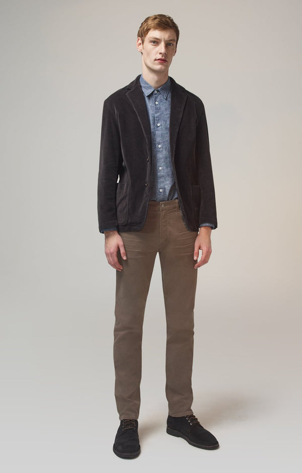 bowery standard slim fit lead luxury front