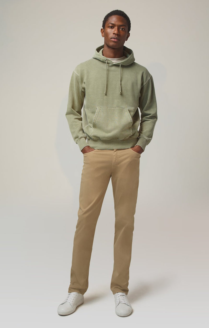 gage classic straight fit vintage khaki front