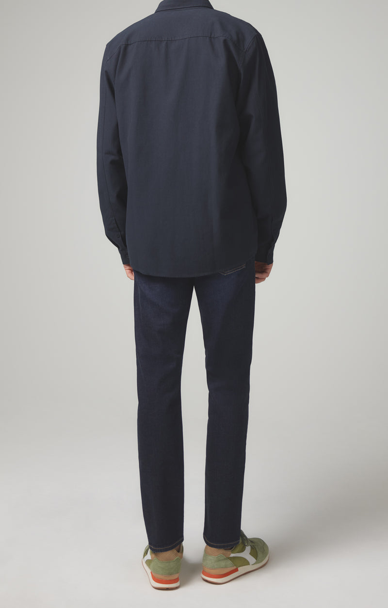 bowery standard slim fit dark indigo back