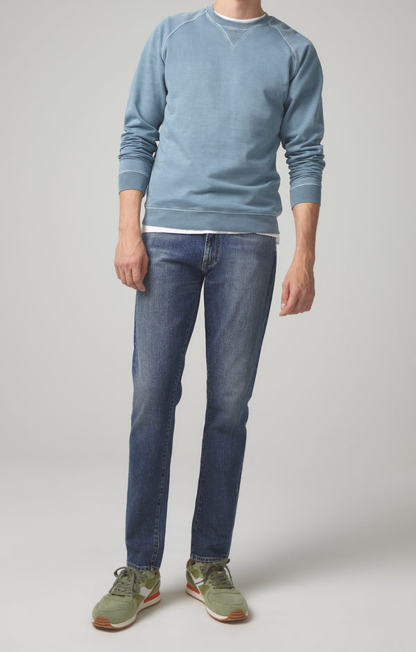 london slim fit pure blue front