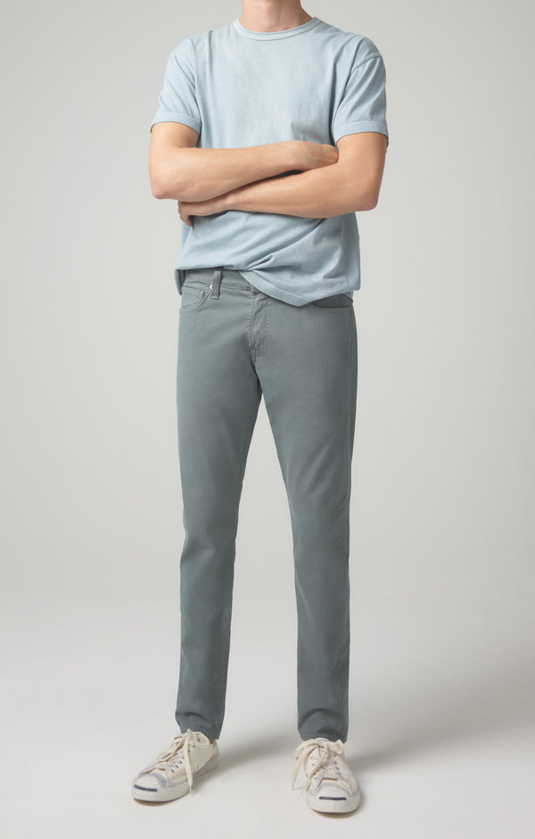 london slim fit cyan blue front
