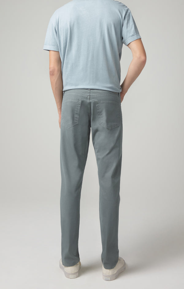 london slim fit cyan blue back