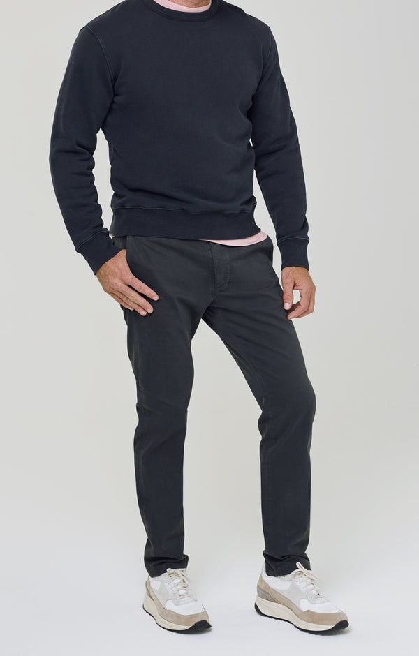 London Chino Washed Black front