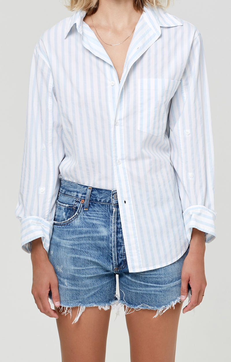 Kayla Shirt Sea Stripe front