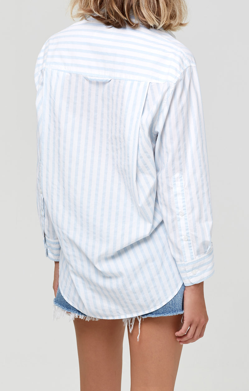Kayla Shirt Sea Stripe back