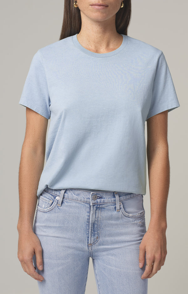 frankie classic t shirt acqua back