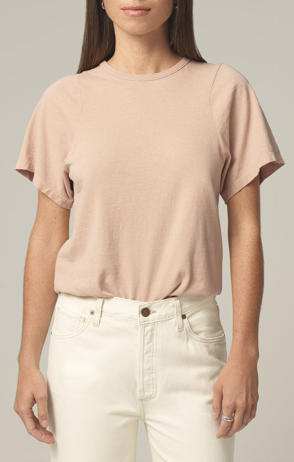 cecile racer t-shirt sand front