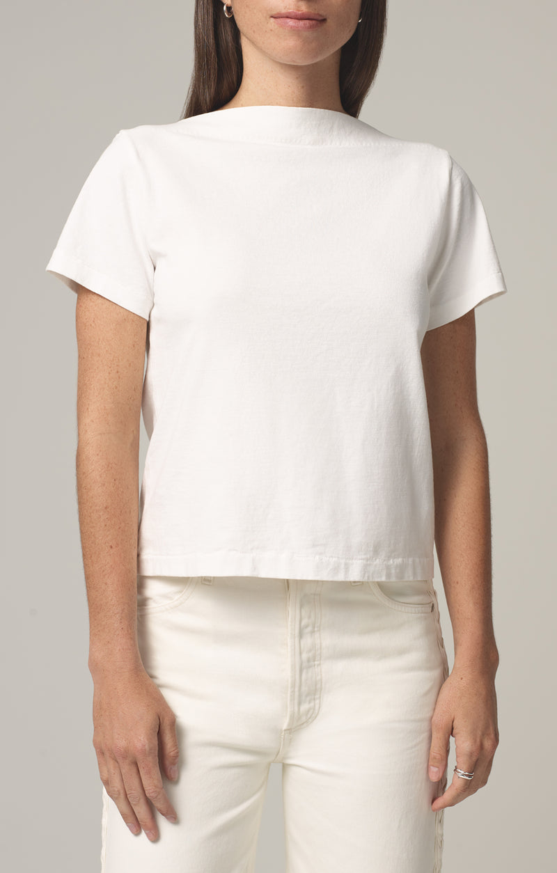 nell boat neck t-shirt chalk front