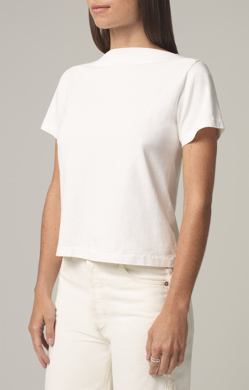 nell boat neck t-shirt chalk side