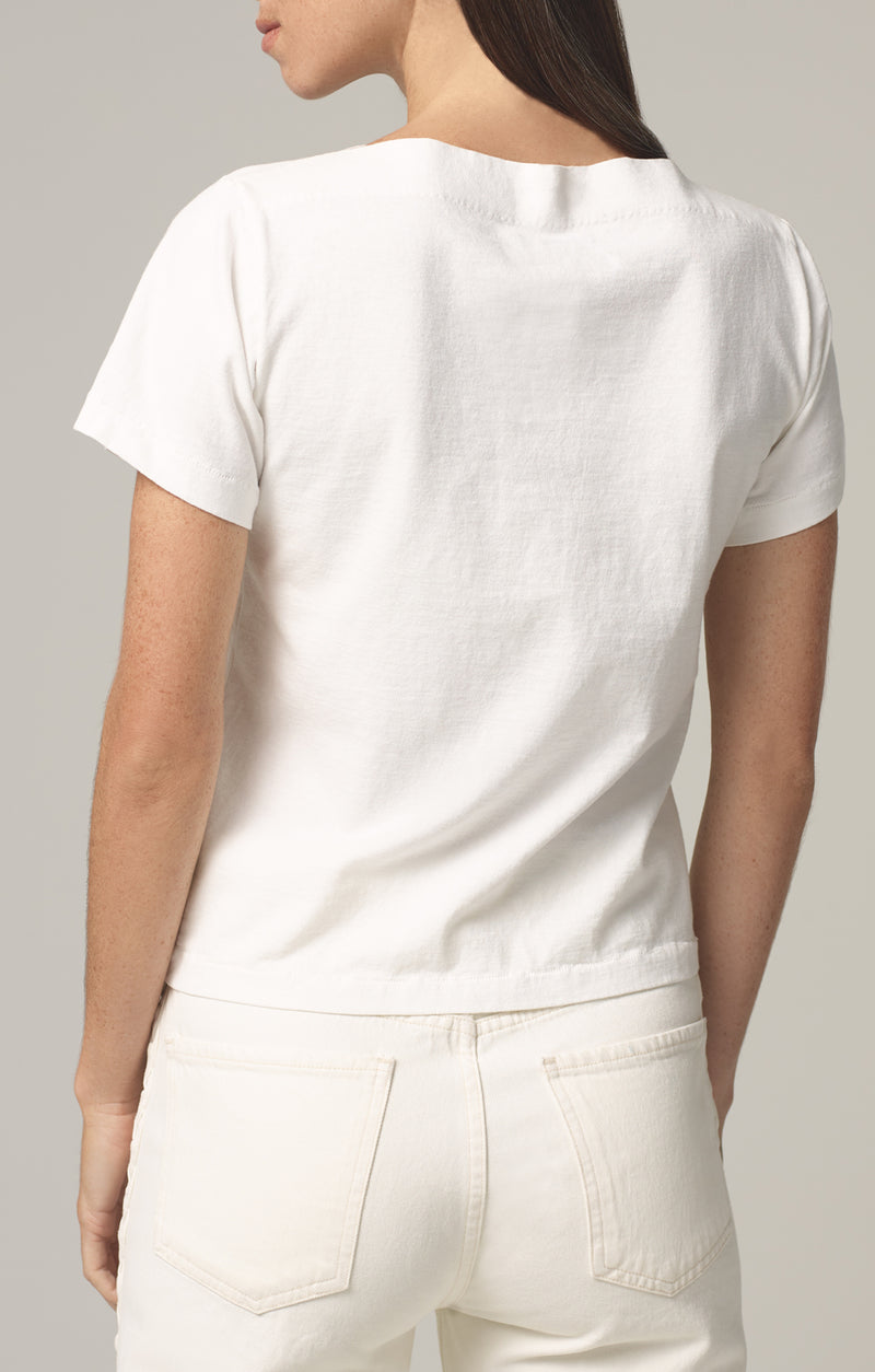 nell boat neck t-shirt chalk back