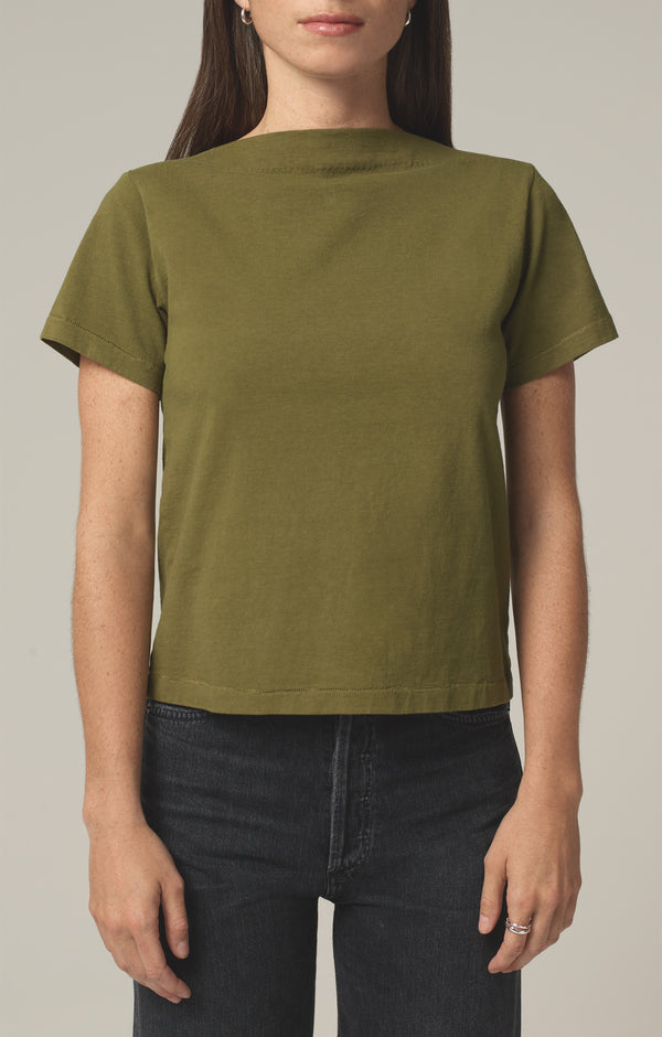 nell boat neck t-shirt cypress front