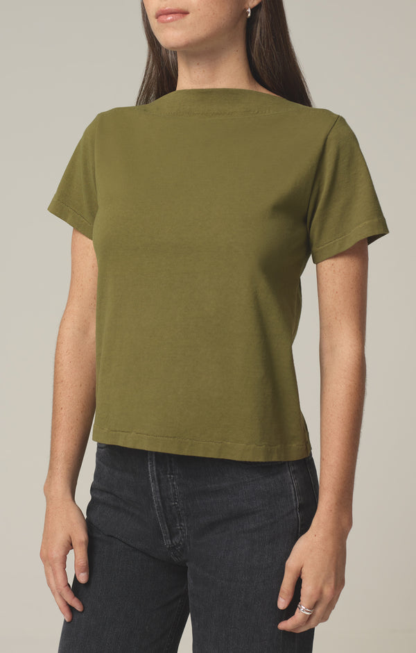 nell boat neck t-shirt cypress side