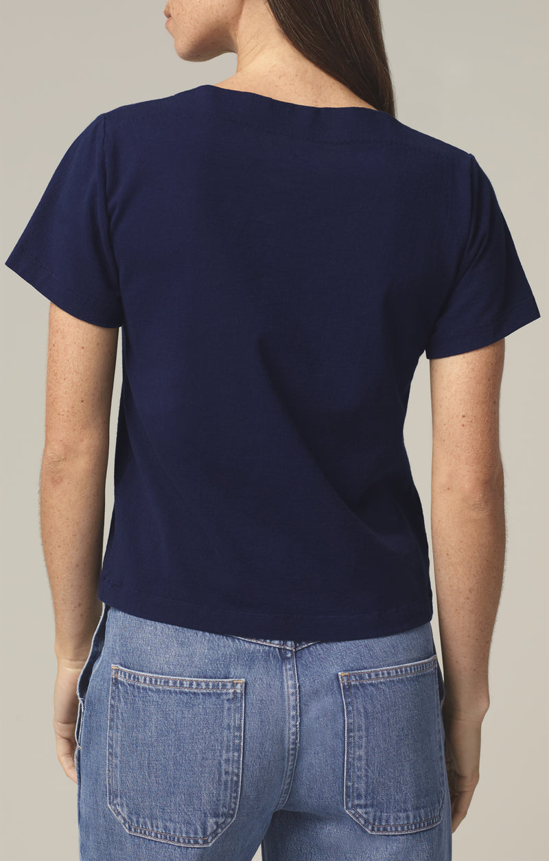 nell boat neck t-shirt royal back