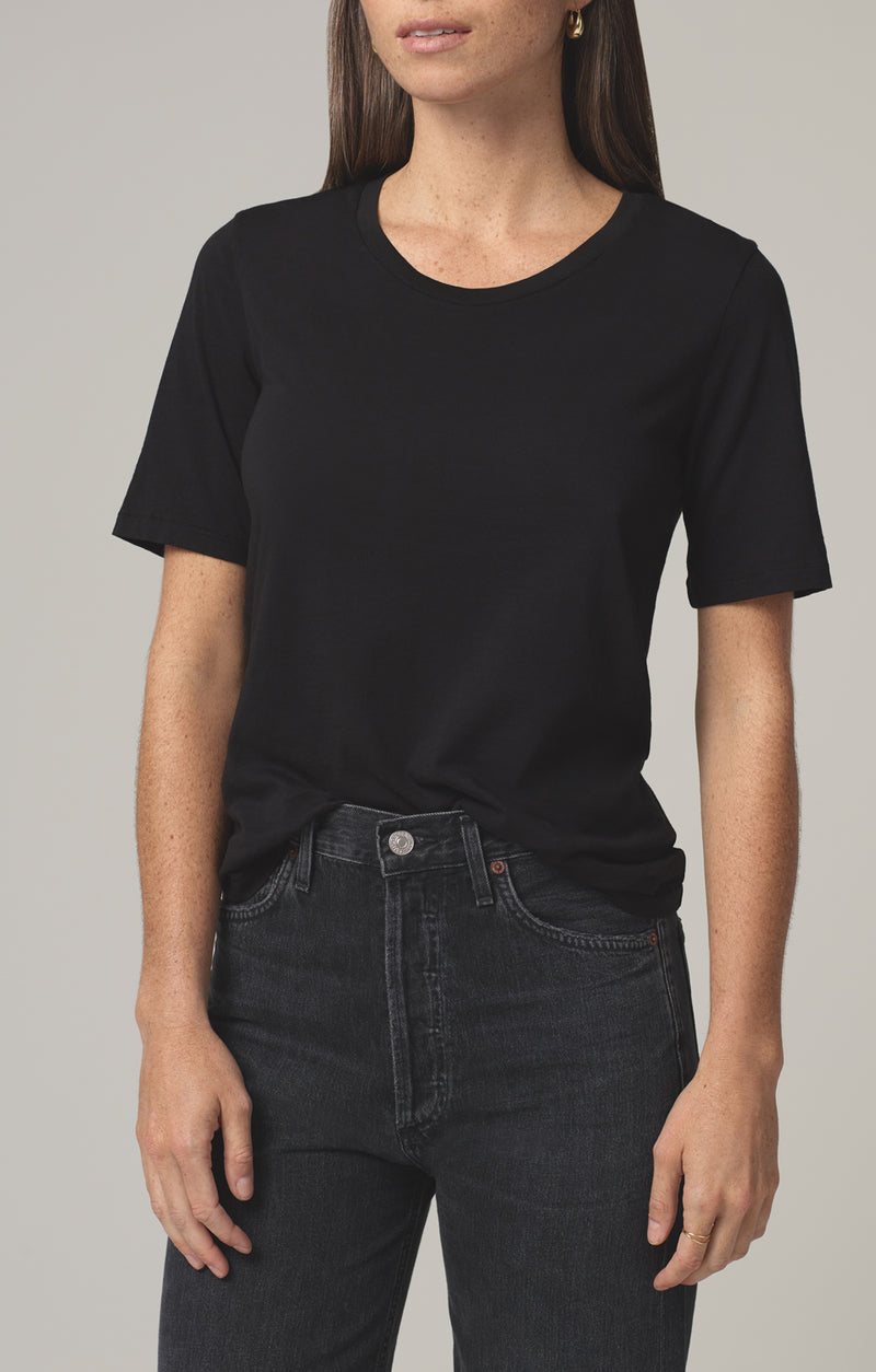 janelle scoop neck tshirt black side
