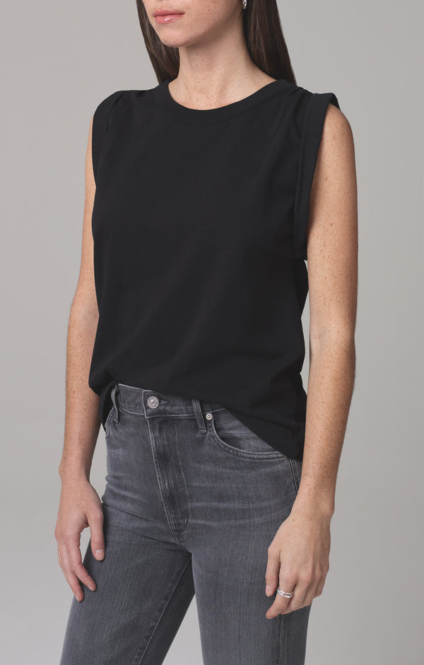 jordana rolled sleeve tee black side