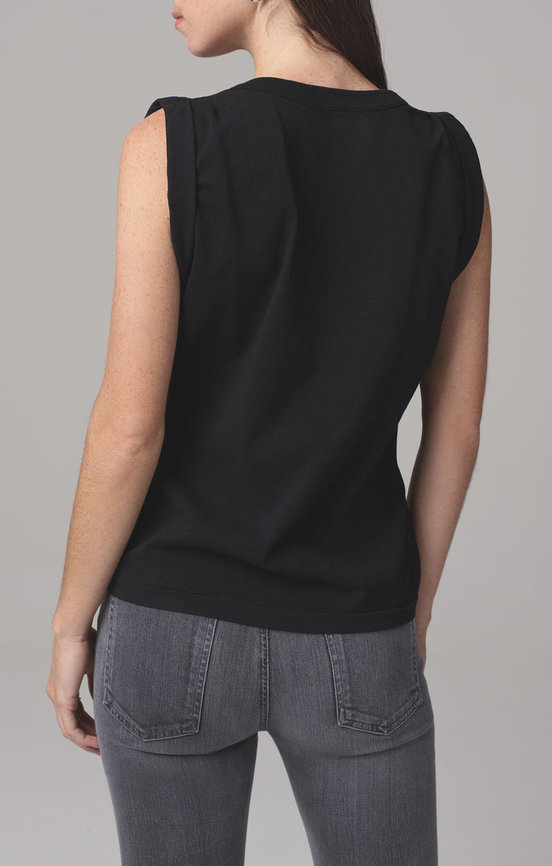 jordana rolled sleeve tee black back