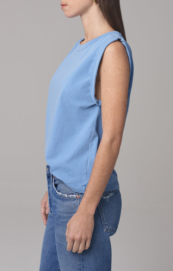 jordana rolled sleeve tee cornflower side
