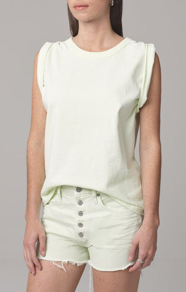 jordana rolled sleeve tee lemongrass side