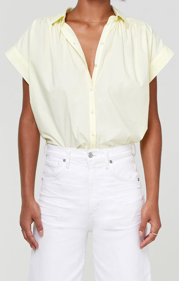 Penny Short Sleeve Blouse Sunglow front