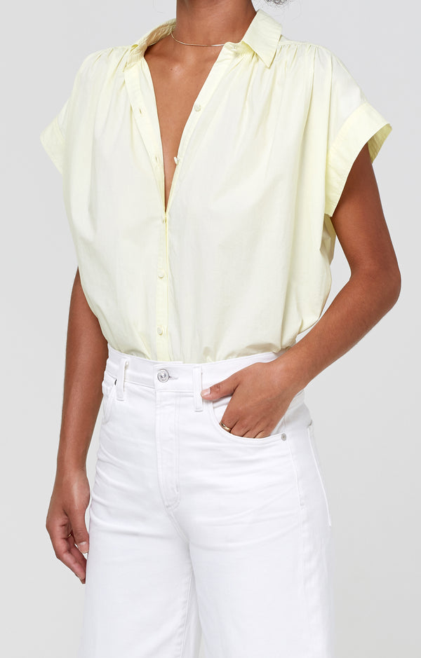 Penny Short Sleeve Blouse Sunglow